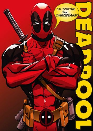 DEADPOOL - CHIMICHANGAS canvas print - self adhesive poster - photo print